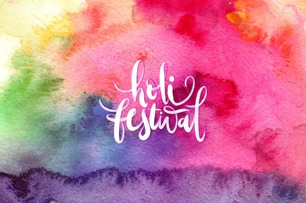 Tema de explosão aquarela para festival de holi