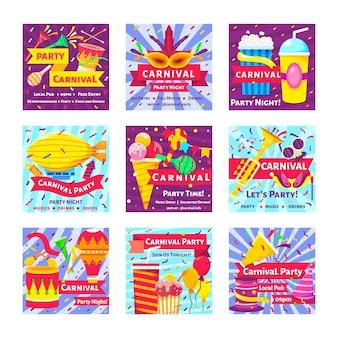Tema de festa de carnaval para instagram post