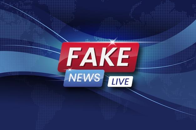 Tema de fluxo de notícias falsas