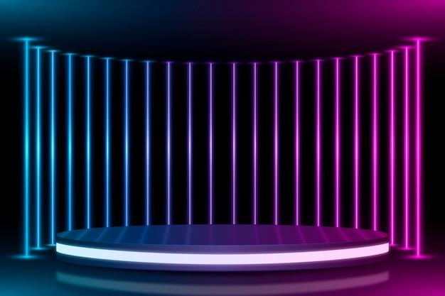 Tema de fundo abstrato de luzes de néon Vetor grátis