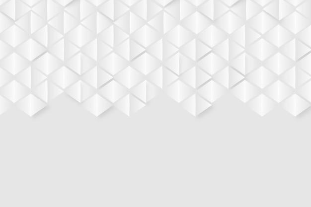 Tema de fundo branco no estilo de papel 3d