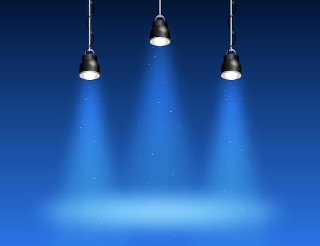 Tema de fundo das luzes de spot