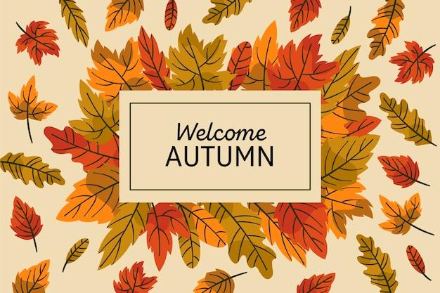 Tema de fundo de folhas de outono