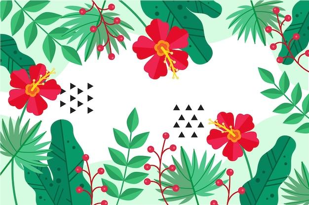 Tema de fundo de folhas tropicais