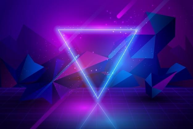 Tema de fundo de luzes de néon