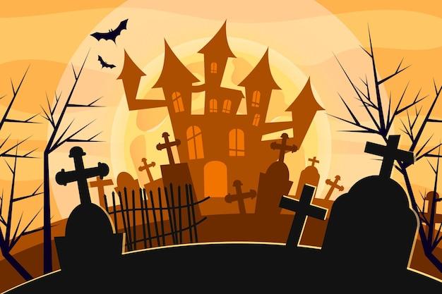 Tema de fundo do dia das bruxas