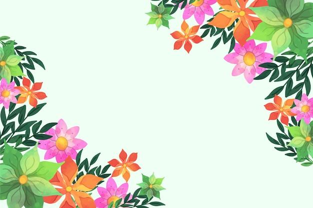 Tema de fundo floral aquarela