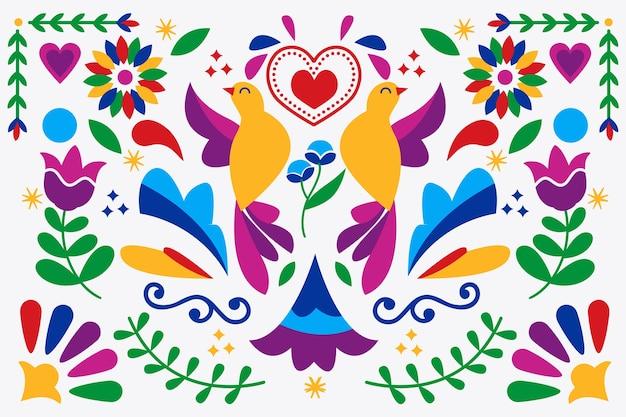 Tema de fundo mexicano colorido