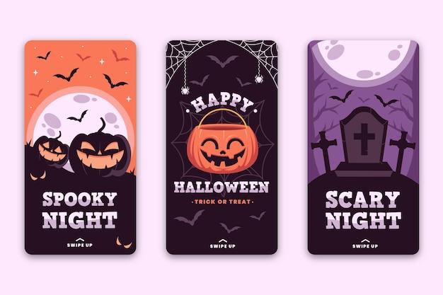 Tema de histórias do instagram do festival de halloween Vetor Premium