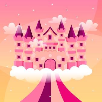 Tema de ilustração com castelo