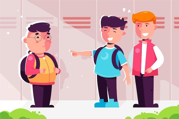 Tema de ilustração de bullying