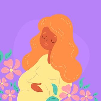Tema de ilustração de dia das mães desenhadas à mão