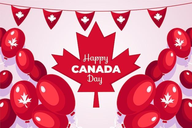 Tema de ilustração do dia do canadá