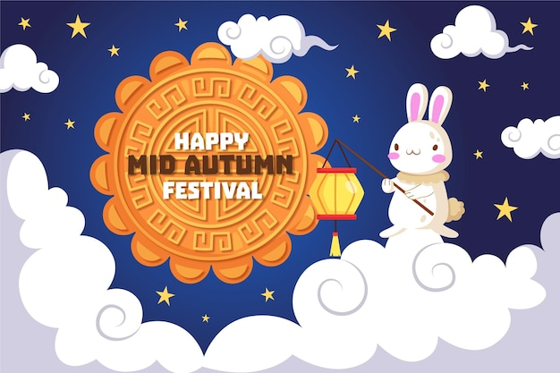 Tema de ilustração do festival do meio do outono