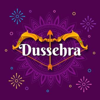 Tema de ilustração do festival dussehra