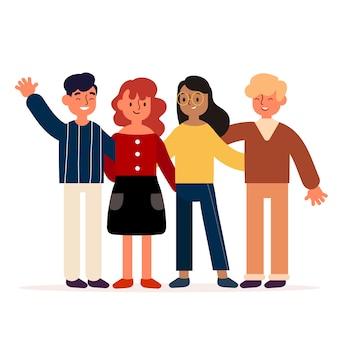 Tema de ilustração para jovens