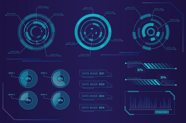 Tema de infografia futurista