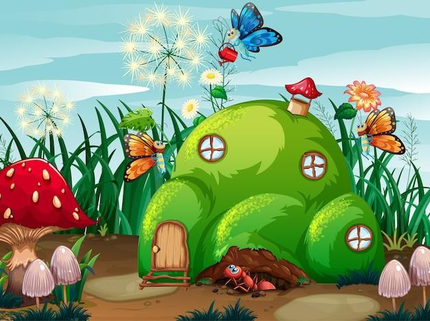 Tema de jardinagem com insetos em sua casa