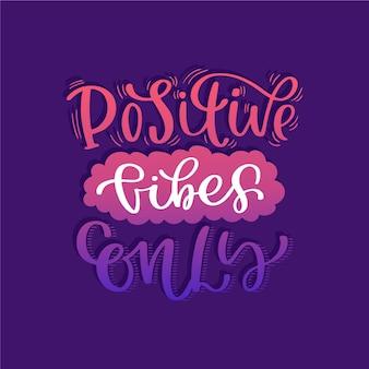 Tema de letras de mensagem de mente positiva