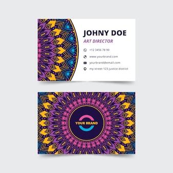 Tema de mandala para cartão de visita