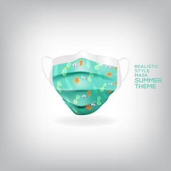Tema de máscara realista de verão