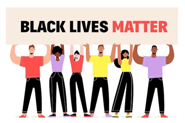 Tema de matéria de vidas negras