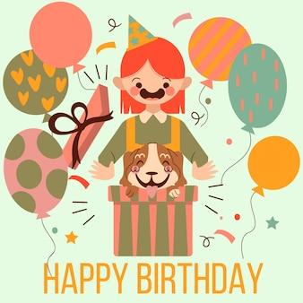 Tema de mensagem de feliz aniversário