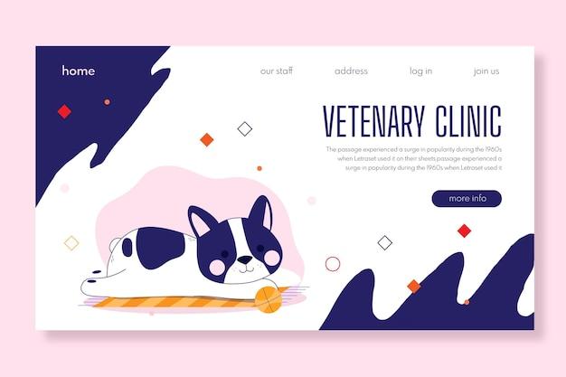 Tema de modelo de banner para clínica veterinária