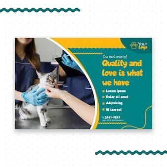 Tema de modelo de banner veterinário