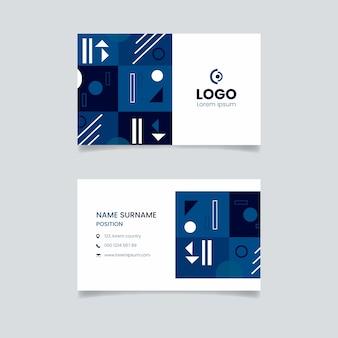 Tema de modelo de cartão azul clássico