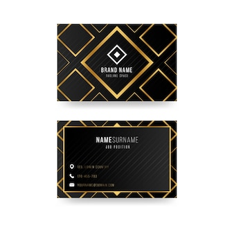 Tema de modelo de cartão de visita de luxo