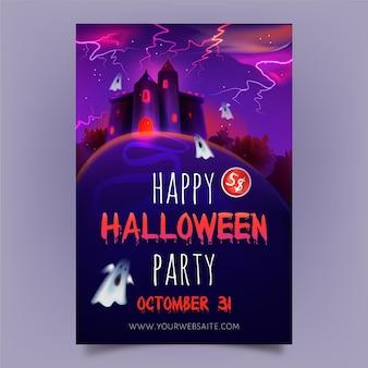 Tema de modelo de cartaz de halloween