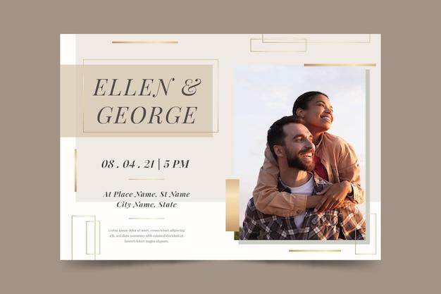 Tema de modelo de convite de casamento