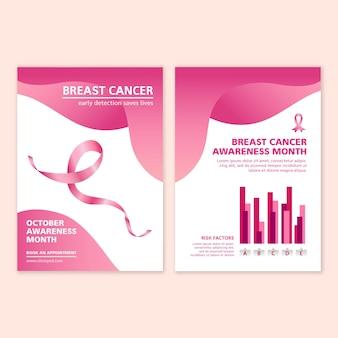 Tema de modelo de folheto a5 para câncer de mama