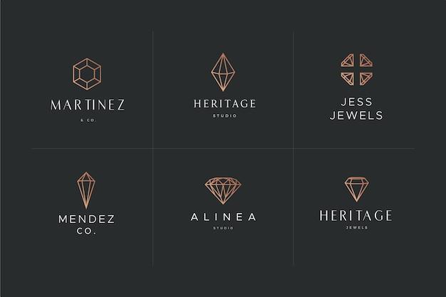 Tema de modelo de logotipo de diamante