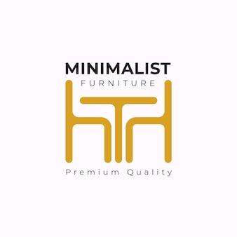 Tema de modelo de logotipo de mobiliário minimalista