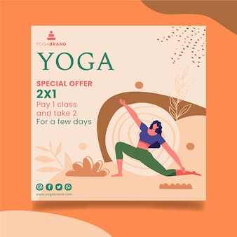 Tema de modelo de panfleto de ioga