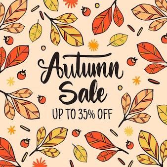 Tema de modelo de venda outono