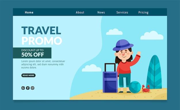 Tema de modelo de web de venda de viagens
