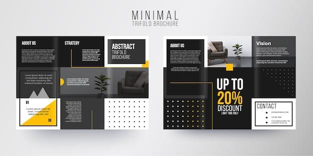 Tema de modelo mínimo de brochura