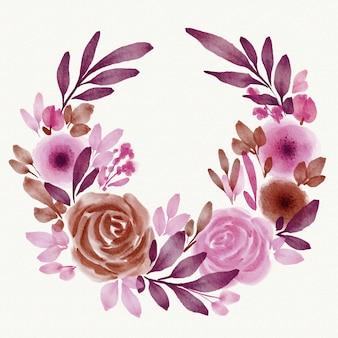 Tema de moldura floral primavera aquarela