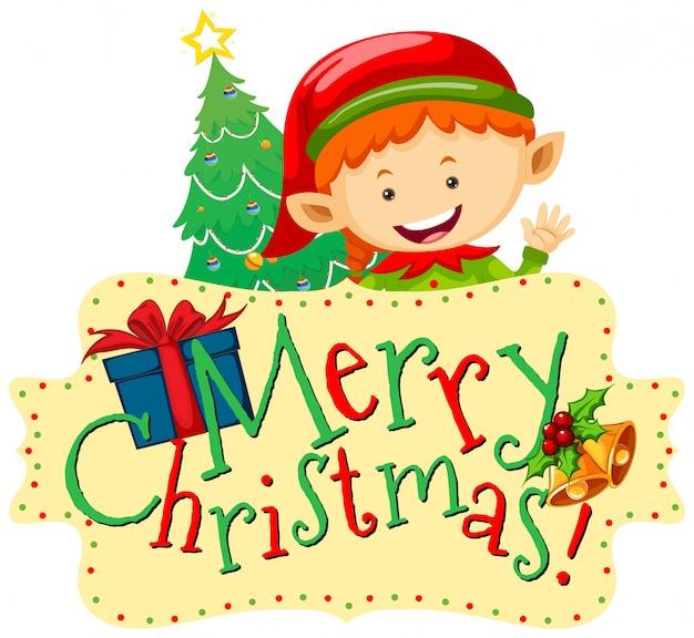 Tema de natal com elf e cartão de natal