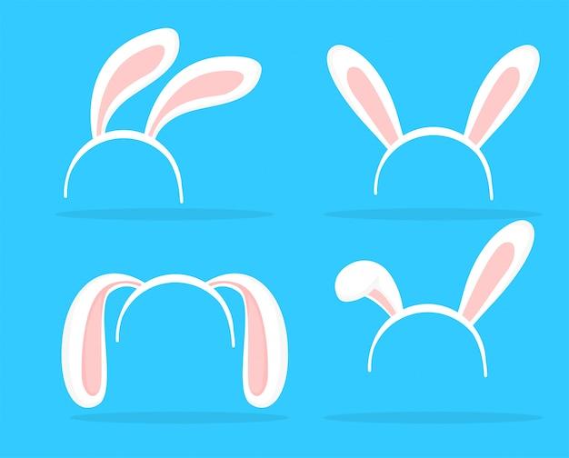 Tema de orelhas de coelho adorável para celebrações da páscoa.