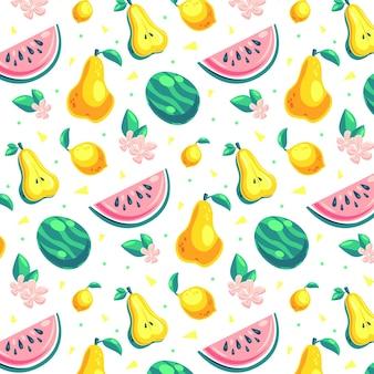 Tema de pacote de frutas padrão
