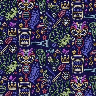 Tema de padrão de carnaval brasileiro