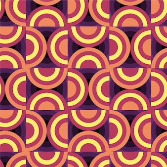 Tema de padrão geométrico groovy