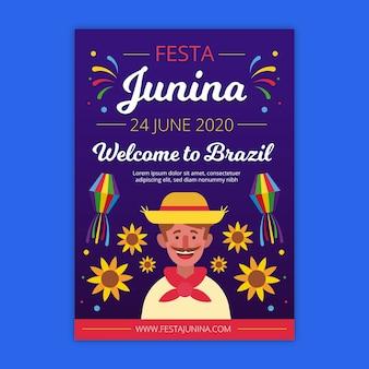 Tema de panfleto de festa junina