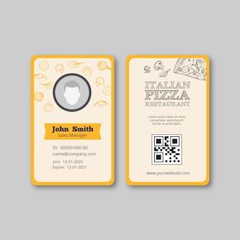 Tema de panfleto de modelo de restaurante italiano