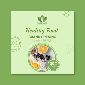 Tema de panfleto de restaurante saudável