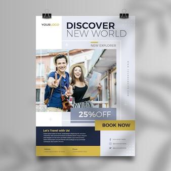Tema de panfleto de venda de viagens